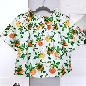 Brooke Wright Designs Orange Blossom Olivia Top